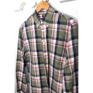 Bloomingdales Mens Store linen blend shirt M